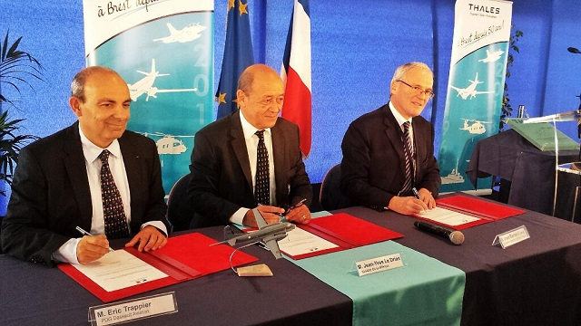 Dassault Aviation and Thales welcome the award by the French Ministry of Defence of the contract to modernise the French Navy's fleet of Atlantique 2 (ATL2) maritime patrol aircraft. Defence Minister Jean-Yves Le Drian signed the contract at a ceremony to celebrate the 50th anniversary of the Thales facility in Brest (French Brittany), in the presence of Laurent Collet-Billon (DGA), Eric Trappier (Dassault Aviation), Jean-Bernard Lévy (Thales), Patrick Boissier (DCNS) and Patrick Dufour (SIAé).