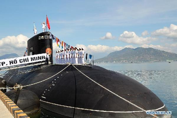 The fifth Project 636.1 (NATO reporting name: Kilo-class) diesel-electric submarine out of the six ordered by Vietnam has been delivered to Cam Ranh in central Vietnam from the Admiralty Wharfs Shipyard in St. Petersburg onboard the Dutch lighter carrier Rolldock Star.