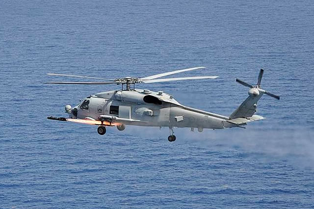 The Royal Australian Navy's newest maritime combat helicopter, the MH-60R Seahawk 'Romeo', has successfully fired its first 'Hellfire' missile in the United States. The AGM-114 Hellfire air-to-surface missile was fired by Navy's 725 Squadron from aircraft currently deployed to the United States Navy's Atlantic Undersea Test and Evaluation Centre off the Florida coast.