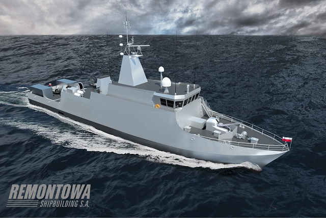 "The Polish Navy new generation mine countermeasures vessel (MCMV) Kormoran II will be launched on September 4 2015. The vessel is designed by Remontowa shipbuilding (Gdanska Stocznia ""Remontowa"" im. J. Pilsudskiego S.A.) based in Gdansk. The Kormoran II launch closely follows the launch of a new OPV for Polish Navy which took place in July. This was the vessel naval ship launch in Poland for years."