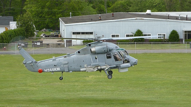 The Royal New Zealand Navy releazed a picture showing the new NZ SH-2G(I) Super Seasprite helicopters in RNZN colours undergoing a test-flight yesterday at Kaman Aerospace in Bloomfield Connecticut, USA. It is fitted with an AGM-119 Penguin anti-ship missile these helicopters will use.