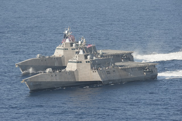 The Littoral Combat Ship (LCS) Mission Modules (MM) program successfully completed the first Structural Test Firing (STF) of the 30mm gun mission module aboard USS Coronado (LCS 4) off the coast of Southern California April 30. The purpose of the STF is to challenge the ship in the most severe blast conditions of the weapon's fire. STF is a total ship test involving live weapons fire and is required for each ship class or variant.