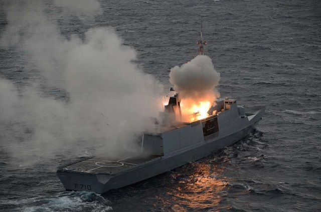 The French Navy announced its Lafayette frigate (first ship of the class) salvo fired two MBDA made MM40 Block II Exocet anti-ship missile in a test earlier this week. Both missiles hit their targets with high accuracy, showing the expertise of the French Navy to implement and maintain a complex weapons system for high-intensity conflict.
