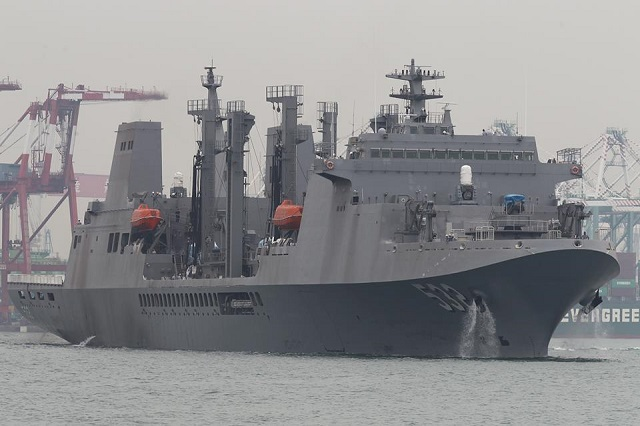 Republic of China (Taiwan) Navy christened a locally made fast combat support ship in Kaohsiung, with the aim of putting the vessel into service by the end of the year, according to the Ministry of National Defense.