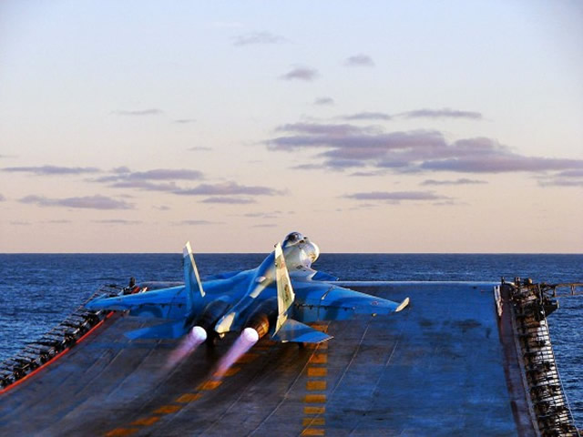 Russian Government official news agency TASS is reporting that deck-based fighter jets of Russia's Northern Fleet held tactical exercises with air-to-air missile launches over the Barents Sea.