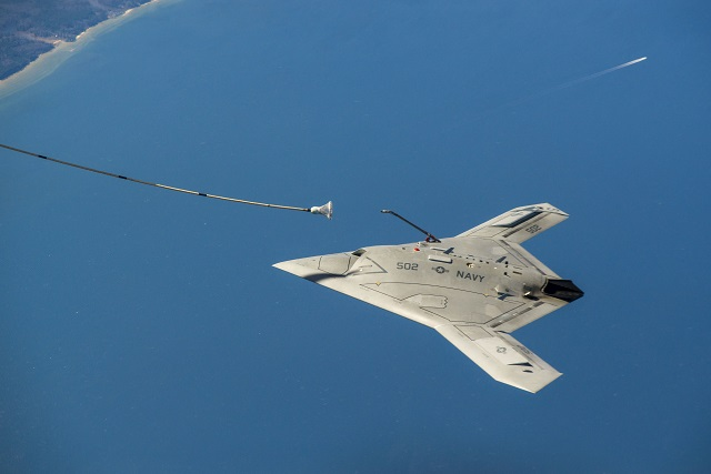 Northrop Grumman Corporation and the U.S. Navy successfully demonstrated fully autonomous aerial refueling (AAR) with the X-47B Unmanned Combat Air System Demonstration (UCAS-D) aircraft today, marking the first time in history that an unmanned aircraft has refueled in-flight.