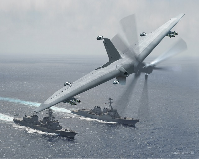 Small-deck ships such as destroyers and frigates could greatly increase their effectiveness if they had their own unmanned air systems (UASs) to provide intelligence, surveillance and reconnaissance (ISR) and other capabilities at long range around the clock. Current state-of-the-art UASs, however, lack the ability to take off and land from confined spaces in rough seas and achieve efficient long-duration flight. Tern, a joint program between DARPA and the U.S. Navy's Office of Naval Research (ONR), seeks to provide these and other previously unattainable capabilities. As part of Tern's ongoing progress toward that goal, DARPA has awarded Phase 3 of Tern to a team led by the Northrop Grumman Corporation.