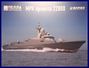 Two new Project 22800 guided missile corvettes were laid down for the Russian Navy by the Pella Shipyard in St. Petersburg on December 24th, TASS reported from the shipyard on Thursday. According to the shipyard's spokesperson, the lead ship, the Uragan, is to be commissioned by the Russian Navy in December 2017 and the first production ship, the Typhoon, in 2018.