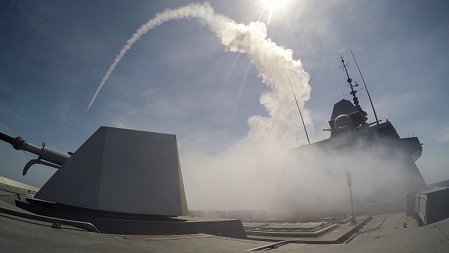 The frigate Aquitaine, the first unit in the multi-mission frigate program (FREMM), has successfully fired its first naval cruise missile on May 19 on the firing ranges of the DGA missile testing centre off Levant Island. This is the first time that a European surface ship has fired a cruise missile. On May 12, the frigate also successfully fired its first Exocet MM40 surface-to-surface missile.