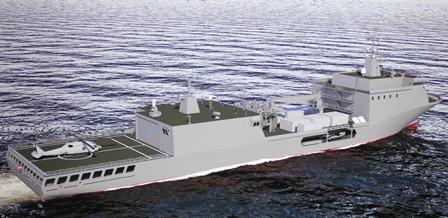 "Conceptual images: Remontowa Logistic Support Ship codename OWL ""Baltyk"""