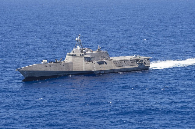 The Independence-class Littoral combat ship USS Coronado (LCS 4) departed Joint Base Pearl Harbor-Hickam Aug. 26 to continue its independent deployment to the Western Pacific. The ship's departure follows participation in exercise Rim of the Pacific 2016, in which the ship successfully completed a Harpoon Block 1C missile LCS-based launch.