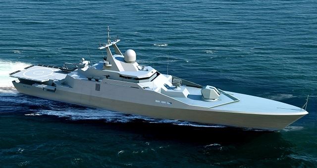 Russia's Almaz Central Marine Design Bureau (member of United Shipbuilding Corporation OCK) unveiled the new Project 23420 small anti submarine warfare (ASW) ship. The vessel features a futuristic design with very sleek lines.