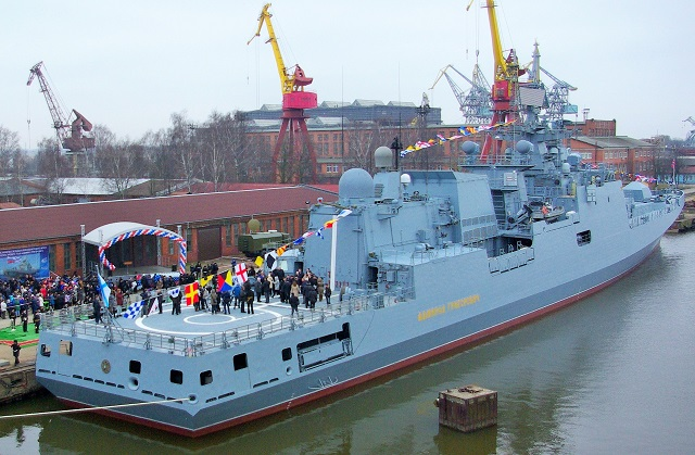 The Baltic Shipyards shipbuilding plant (a subsidiary of the United Shipbuilding Corporation, USC) has handed over 'Admiral Grigorovich' Project 11356 frigate (Krivak-V/Admiral Grigorovich-class type ship) to Russian Navy, according to the plant`s official spokeperson, Sergei Mikhailov.