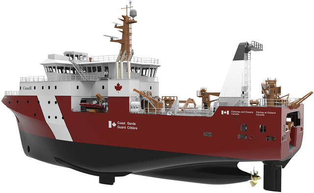 On March 24th, Thales in Canada signed a $35M (CAD) contract with Seaspan's Vancouver Shipyards (VSY), regarding the electronic systems for the construction of the Canadian Coast Guard's (CCG) three Offshore Fisheries Science Vessels (OFSV) under the National Shipbuilding Strategy (NSS). Seaspan recently announced the start of production on the second OFSV. In the meantime, significant progress continues on the first OFSV with 37 of 37 blocks currently under construction.