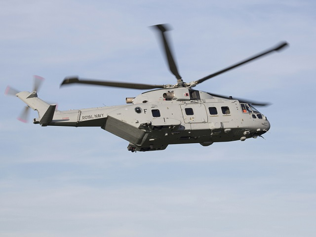 1st Royal Navy AW101 Merlin Mk4 maiden flight