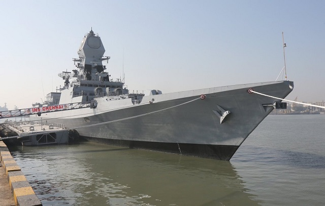 INS Chennai third Project 15A Kolkata class destroyer 1