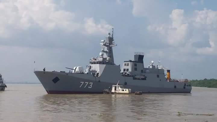 Myanmar Navy Latest Corvette Ums Tabinshwehti Likely