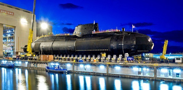 BAE Systems launched Audacious - the fourth Astute-class SSN