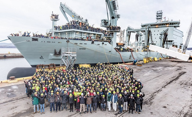 Davie Shipbuilding Delivered Interim AOR M/V Asterix to Royal