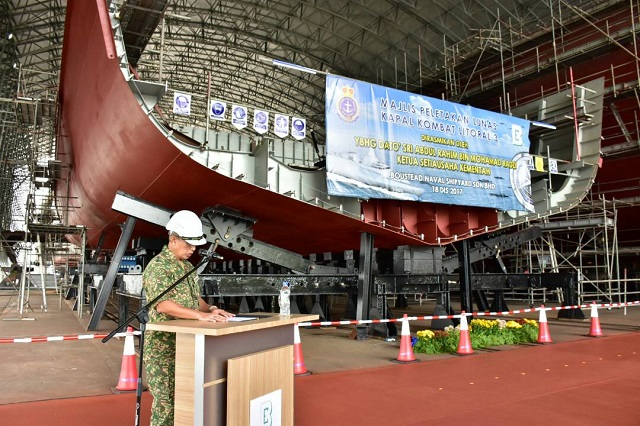 Keel Laying 3rd Gowind LCS SGPV Malaysia TLDM 1