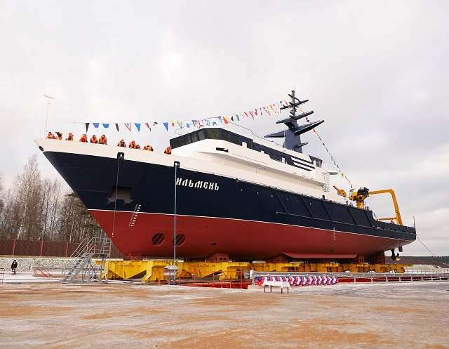 Project 11982 ocean survey vessel Ilmen