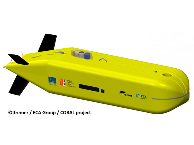 coral auv project ifremer eca group