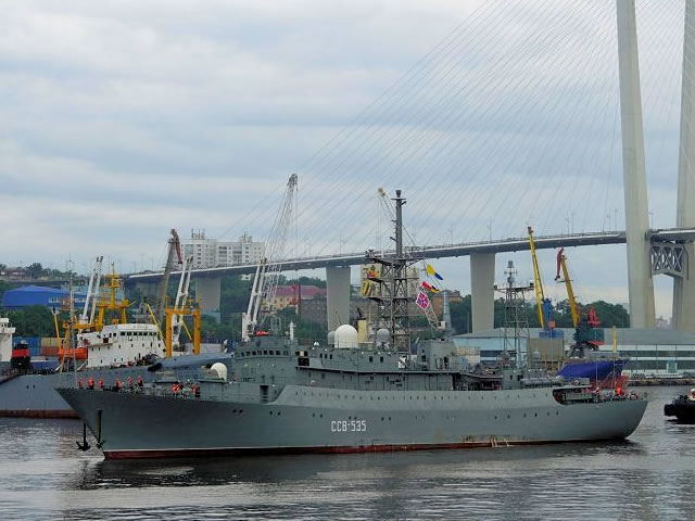 Intelligence ship Karelia Russia Pacific Fleet