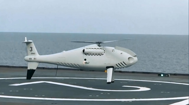 Schiebel's CAMCOPTER S-100 VTOL UAV Completes Qualification Aboard French Navy Mistral-class LHD