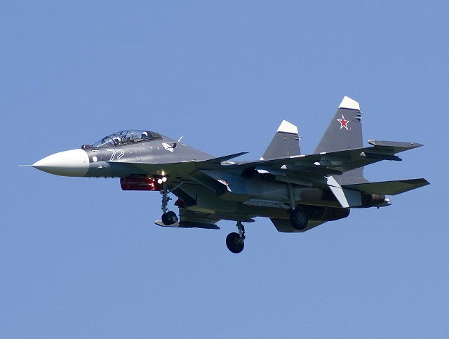 Russian Navy Baltic Fleet Received its First Su-30SM Fighters of 2017