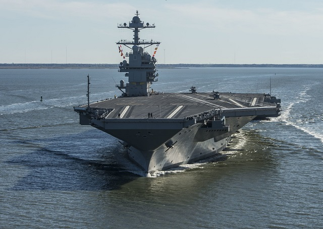 US Navy Future Aircraft Carrier USS Gerald R. Ford Successfully Completes Acceptance Trials