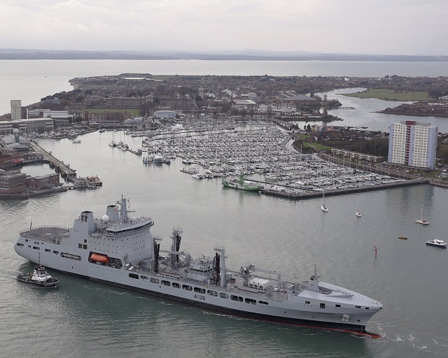 Royal Fleet Auxiliary welcomes RFA Tidespring