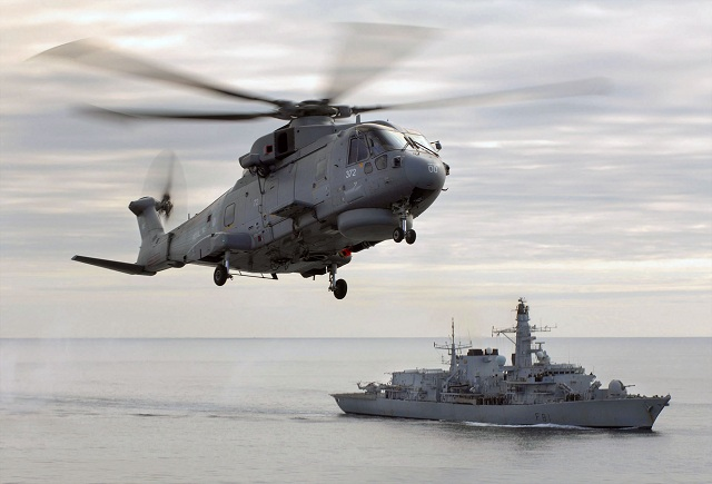 Royal Navy Merlin Type 23 HMS Sutherland