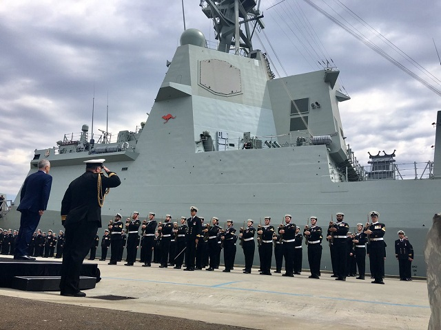 AWD Hobart Destroyer commissioning RAN