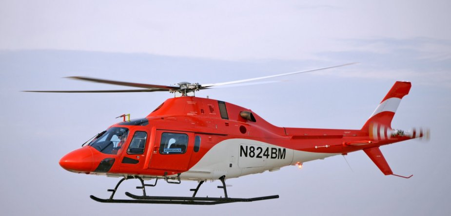 Leonardo completes TH 119 training helicopter first flight test 001