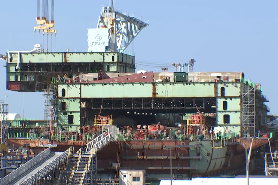 Video HII Reaches 50 Percent Completion in Construction of Future Aircraft Carrier John F. Kennedy CVN 79