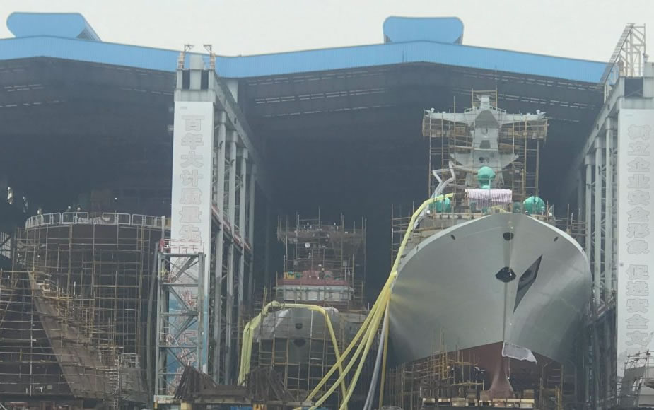 China Launched the 30th and last Type 054A Frigate for the PLAN