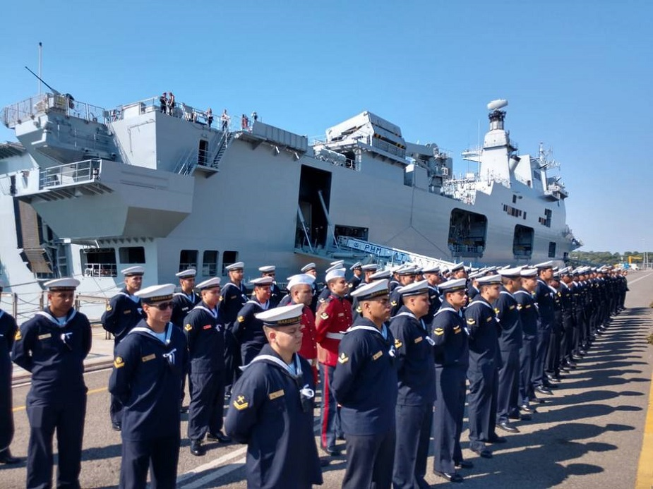 Brazilian Navy Commissioned Helicopter Carrier Atlântico Former HMS Ocean