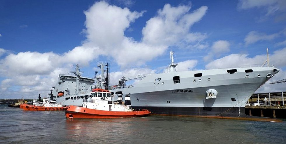 Third Tide Class British tanker arrived in Cornwall
