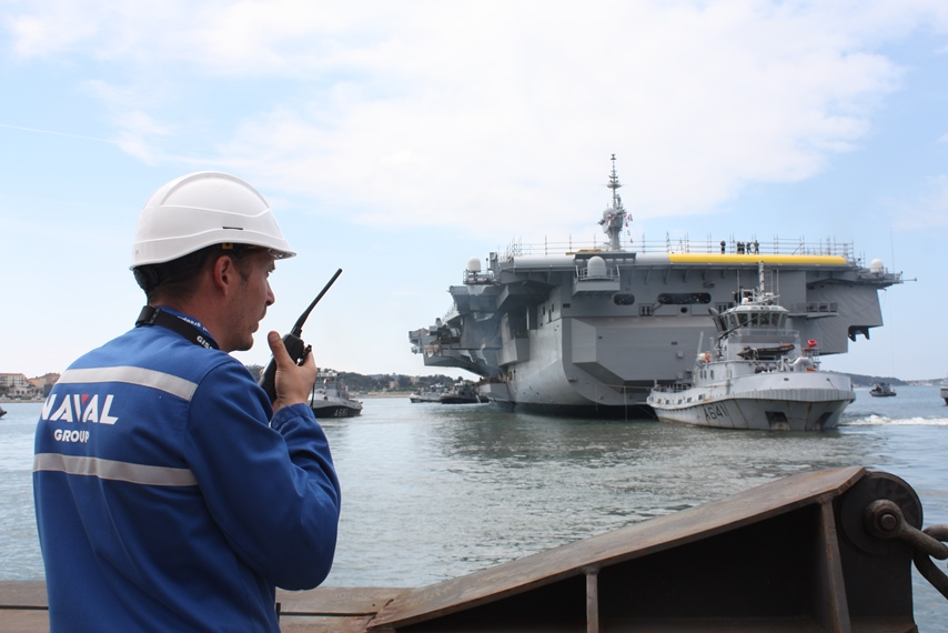 French Aircraft Carrier Out of Dry Dock Refit Work Continues Afloat 2