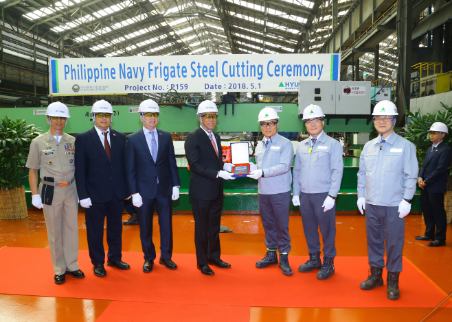 HHI Cut Steel of Philippine Navy Future HDF 3000 2