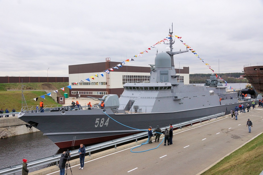 Russia launches Third Project 22800 Corvette Shkval 1st one with Pantsyr M 1