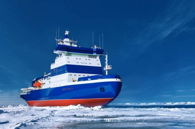 Russias Baltic Shipyard Started Dock Trials of 33000 tons Icebreaker Arktika 2