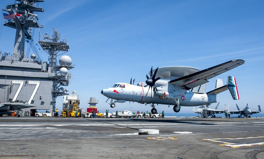 USS George H.W. Bush Conducts Flight Ops With French Navy 2