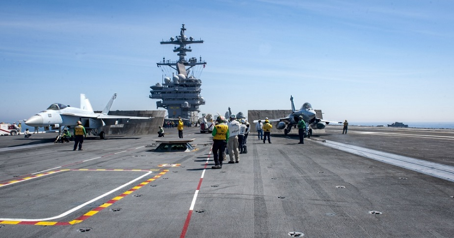 USS George H.W. Bush Conducts Flight Ops With French Navy 3