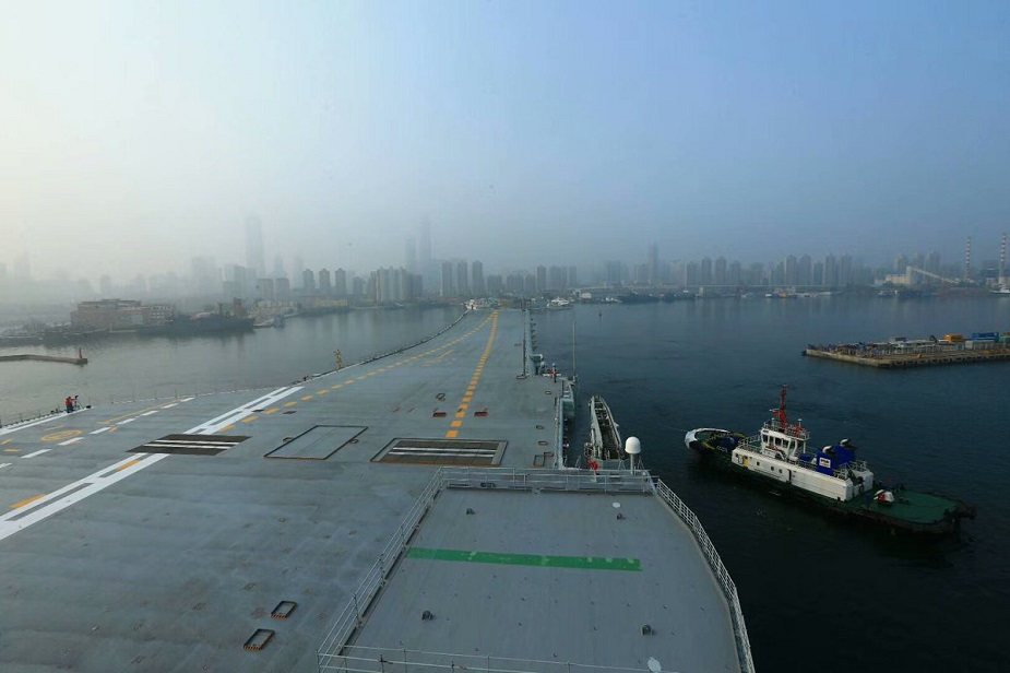 Video Chinas First Home Built Aircraft Carrier Type 001 Started Sea Trials 2
