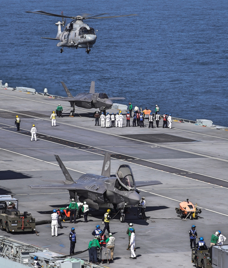 F 35B Fighters Land on HMS Queen Elizabeth for the First Time 2 Fotor