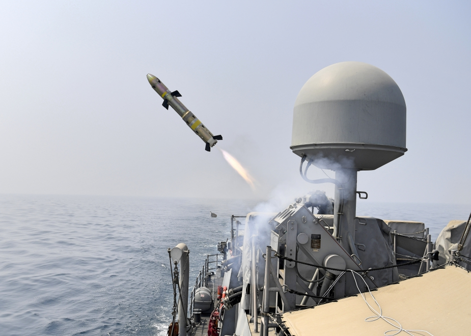 U.S. Navy Coastal Patrol Ships Conduct Griffin Missile Shoot