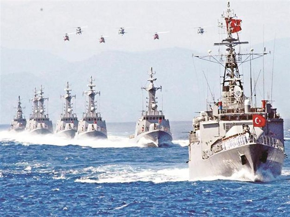Turkey launched its largest maritime drill, the Blue Homeland