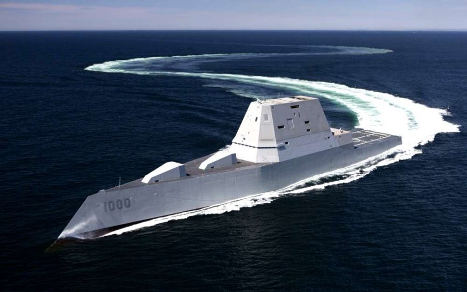 US Navy destroyer USS Zumwalt began first operational period at sea