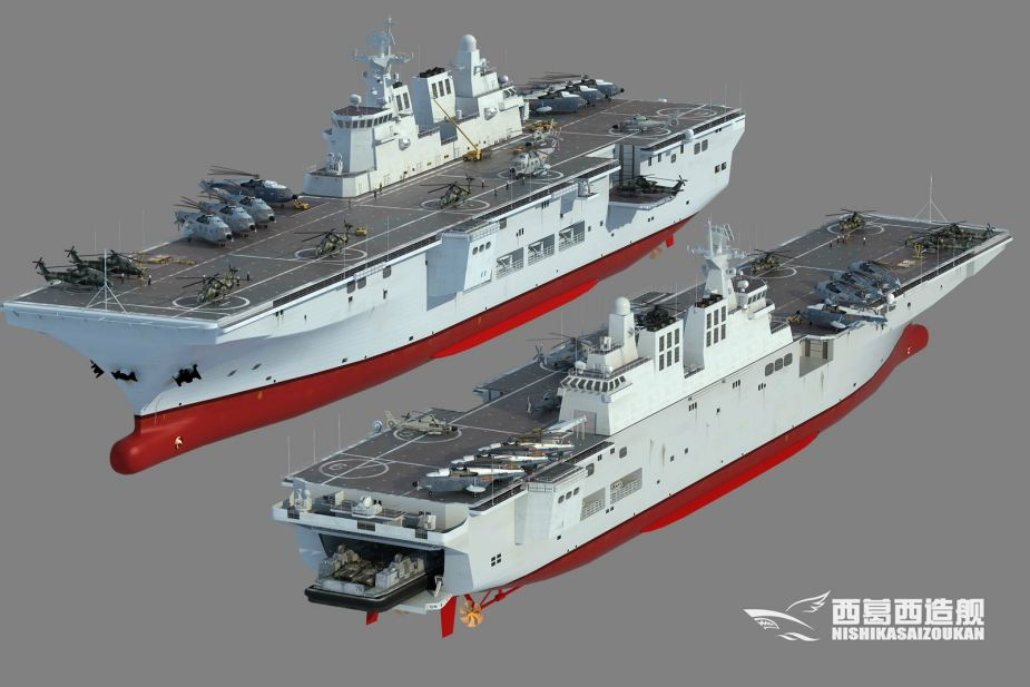 Chinas First Helicopter Carrier Type 075 Nearing Completion 925 002